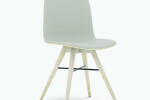 Seed Chair in Ash and Grey Leather Upholstery
