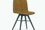 Seed Chair in Black Coloured Ash and Portuguese SideWalk Brown Upholtery