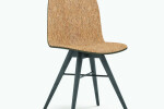 Seed Chair in Black Coloured Ash and Craft Cork Upholtery