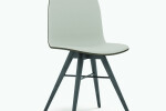 Seed Chair in Black Coloured Ash and Grey Leather Upholtery