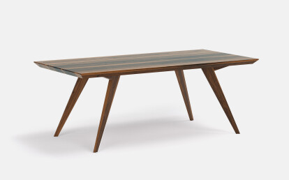 Roly-Poly table in Walnut