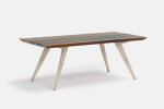 Roly-Poly table in Walnut and Ash