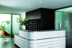 Classic Line L-shaped reception desk with top