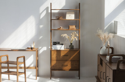 Mid century bookcase FRISK Maxi with drawers