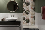 Ceramiche Piemme - Majestic - Floor Glam Black 60X120cm_Wall Jewel Flowers 40x120cm