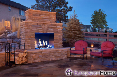 J Series 40H Outdoor Gas Fireplace