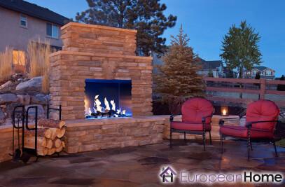 J Series 40H Outdoor Gas Fireplace