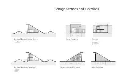 Cottage Sections and Elevations