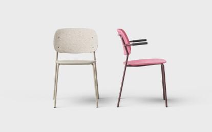 Hale PET Felt Stack Chair by De Vorm
