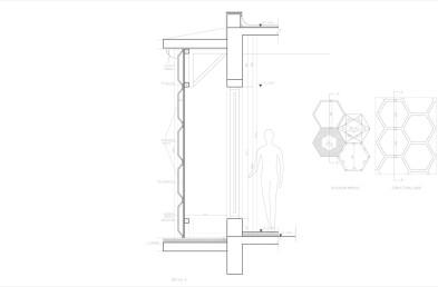 Hexagonal solar sensor-based façade