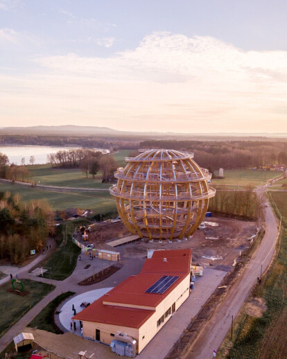 Wooden Sphere Steinberg am See