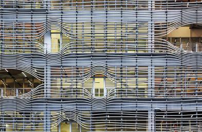 Steel louvre detailing