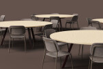 Big Round Modular Table System by De Vorm