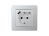 USB-A/C SCHUKO-Socket A flow Aluminium