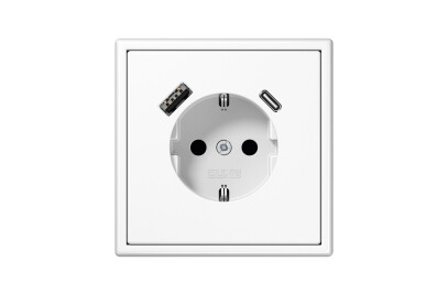 USB-A/C SCHUKO-Socket LS 990 white