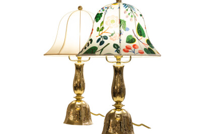 Hammered Josef Hoffmann Wiener Werkstaette Table Lamp
