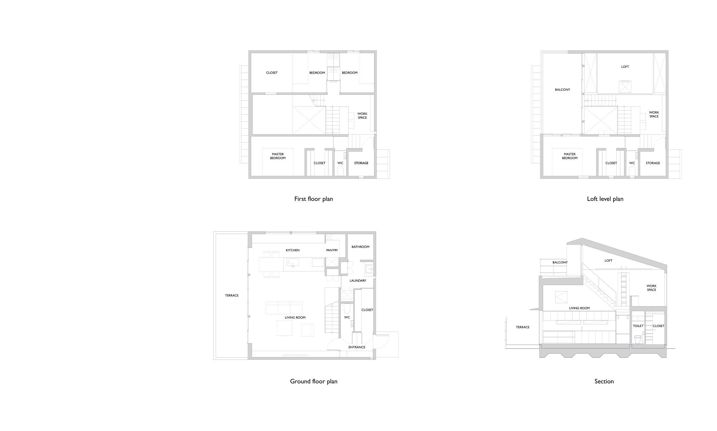 House In Todoroki Floor Plan Section Par Marque Archello