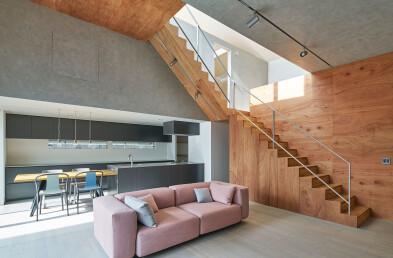 House in Todoroki Floor Plan & Section