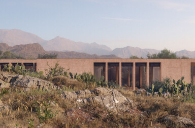 Villa Chams draws inspiration from the earth as it blends into the Lebanese landscape