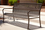 CV1-1000 Bronze CityView Backed Bench with Steel Bar Ends