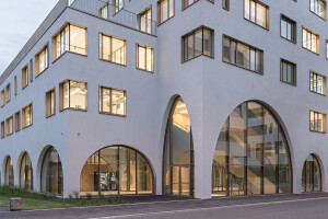 Dramatic arches and openings drive Salzburg pharmacy institute design