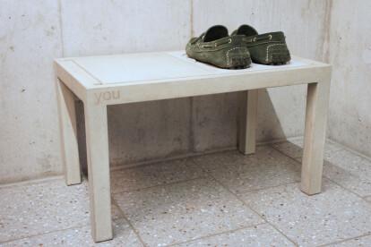 dade RACK FOR 2 - concrete shoe rack