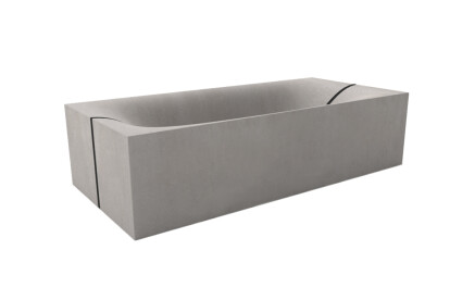 dade WAVE CUBED concrete bathtub