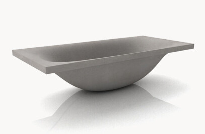 dade WAVE concrete bathtub