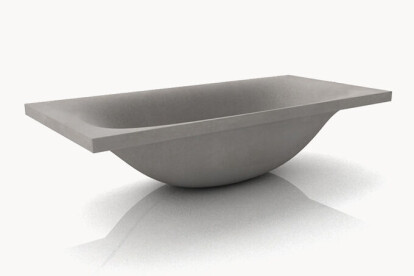 dade WAVE concrete bathtub