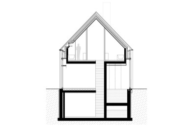 Residence DBB section drawing