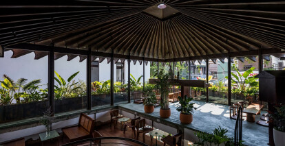 Draped in greenery, Namra Coffee offers an urban oasis of tranquility