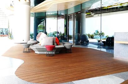 Epic Cognac Fused Bamboo Porch Flooring