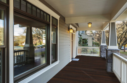 Classic Espresso Fused Bamboo Porch Flooring