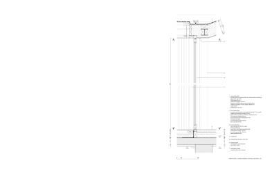 House MJ main facade sliding window vertical section