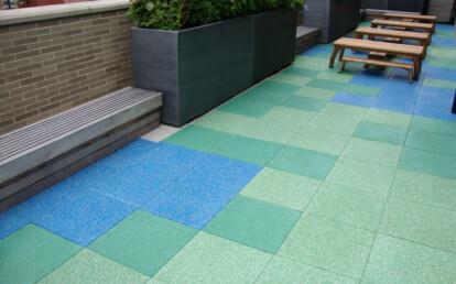 Custom Blended TPV-Top Tiles for school