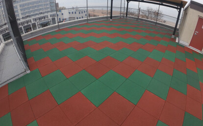 Rooftop Playground at waterfront daycare