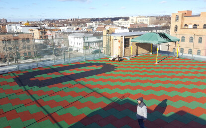 Rooftop Play Area With Trike-Track Inserted