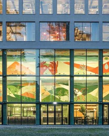 MVRDV transforms 19th century Polish building into transparent coworking hotspot
