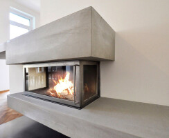 dade design – concrete fireplaces and concrete stoves.