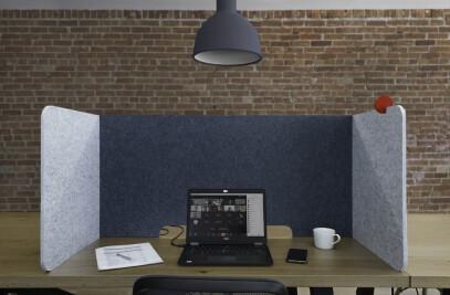 deskPET eco-felt workstation divider