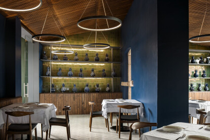 Unified spatial concept accented with Mexican craftsmanship at Santomate