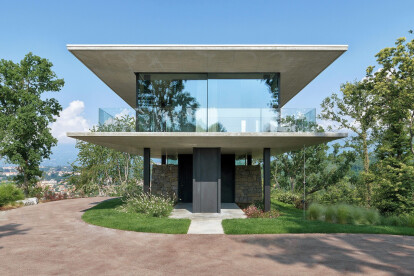 Federico Delrosso places Glass House inspired home on top of Italian ruins