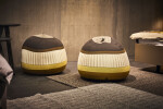 Velden Salsify pouffes by Moeller design