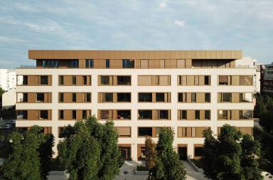Bužanova Apartments facade detail