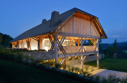 Pavilion in a hayrack
