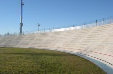 Velodrom track curve details