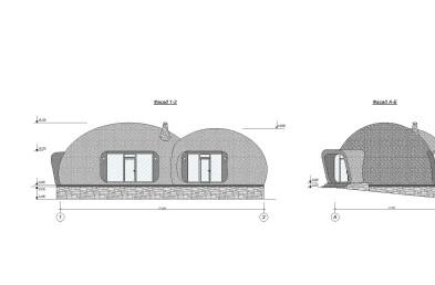 Baan Bubble facade details