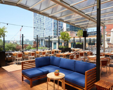 STK Downtown Retractable Glass Skylight