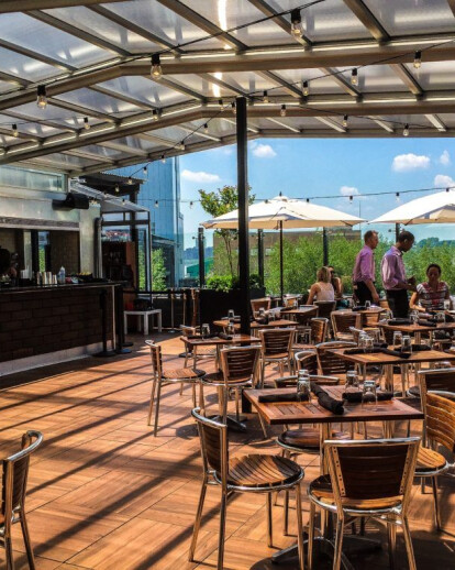 STK Meatpacking Retractable Glass Skylight