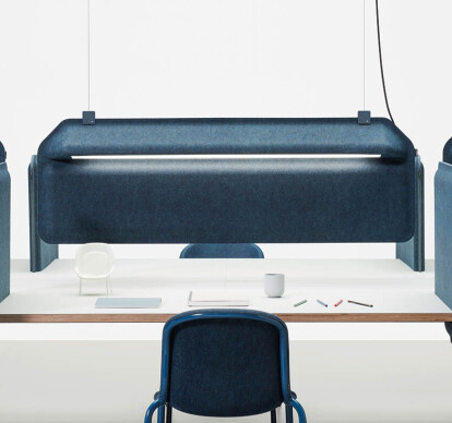 AK 2 Workplace Divider Lamp Hanging